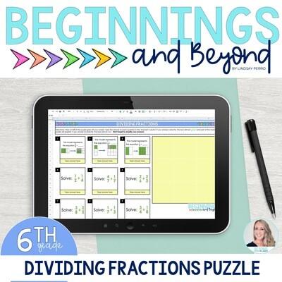 Dividing Fractions Digital Puzzle