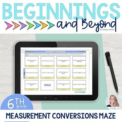 Measurement Conversions Digital Maze