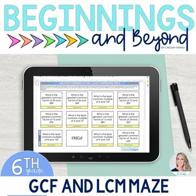 GCF and LCM Digital Maze
