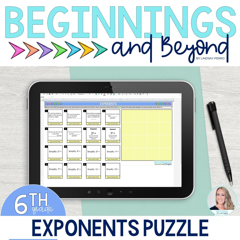 Exponents Digital Puzzle