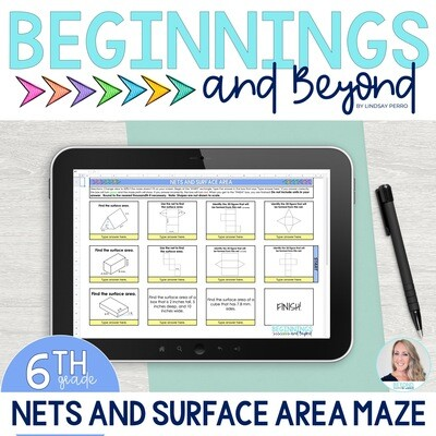 Nets and Surface Area Digital Maze