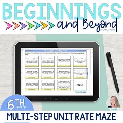 Multi-Step Unit Rate Digital Maze