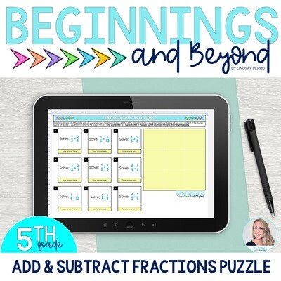 Add and Subtract Fractions Digital Puzzle