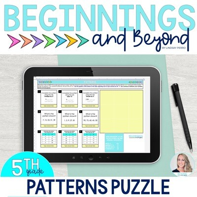 Patterns Given Rules Digital Puzzle