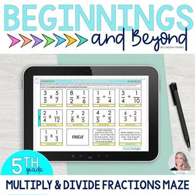 Multiply and Divide Fractions Digital Maze