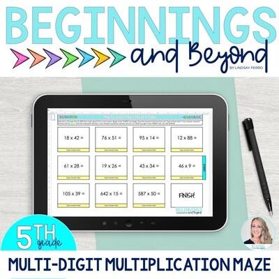 Multi-Digit Multiplication Digital Maze