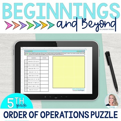 Order of Operations Digital Puzzle