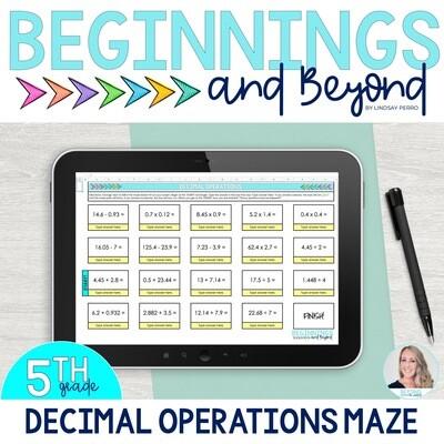 Decimal Operations Digital Maze