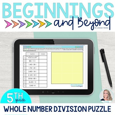 Whole Number Division Digital Puzzle