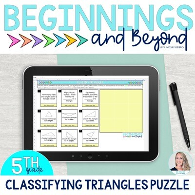 Classifying Triangles Digital Puzzle