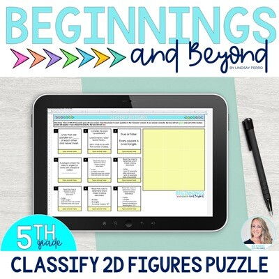 Classifying Two Dimensional Figures Digital Puzzle