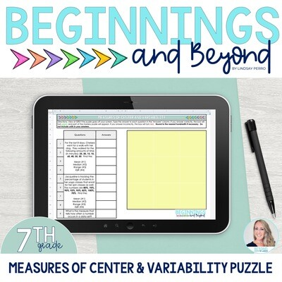 Measures of Center and Variability Digital Puzzle