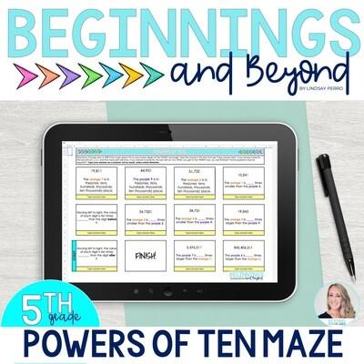 Powers of Ten Digital Maze