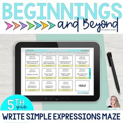 Write Simple Expressions Digital Maze