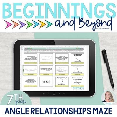 Angle Relationships Digital Maze