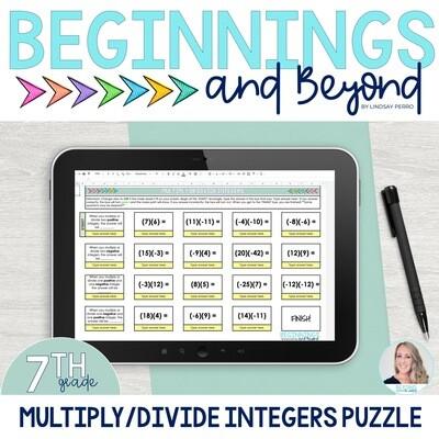 Multiply and Divide Integers Digital Maze