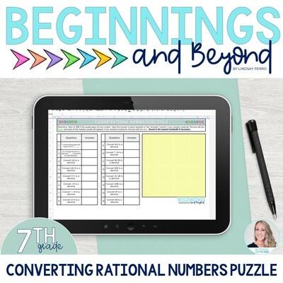 Convert Rational Numbers to Decimals Digital Puzzle