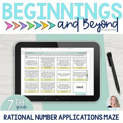 Real World Rational Number Operations Digital Maze