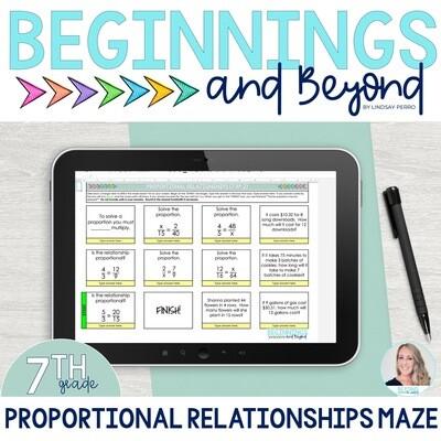 Proportional Relationships Digital Maze