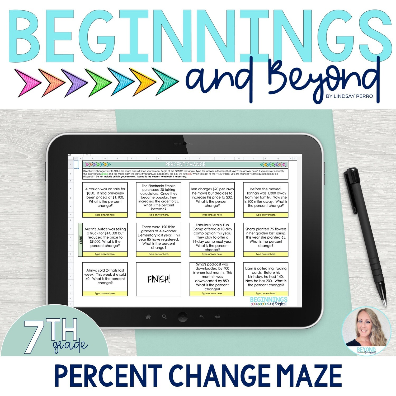 Percent Change Digital Maze