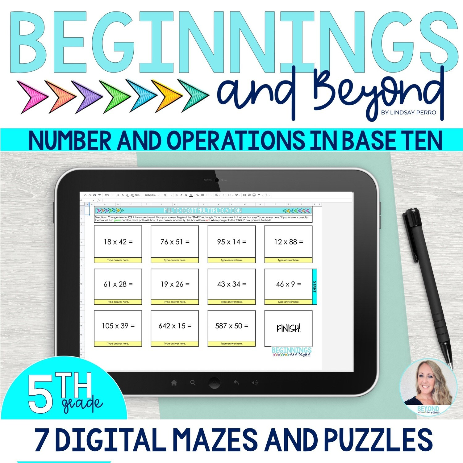 5th Grade Number and Operations in Base Ten Digital Maze and Puzzle Bundle