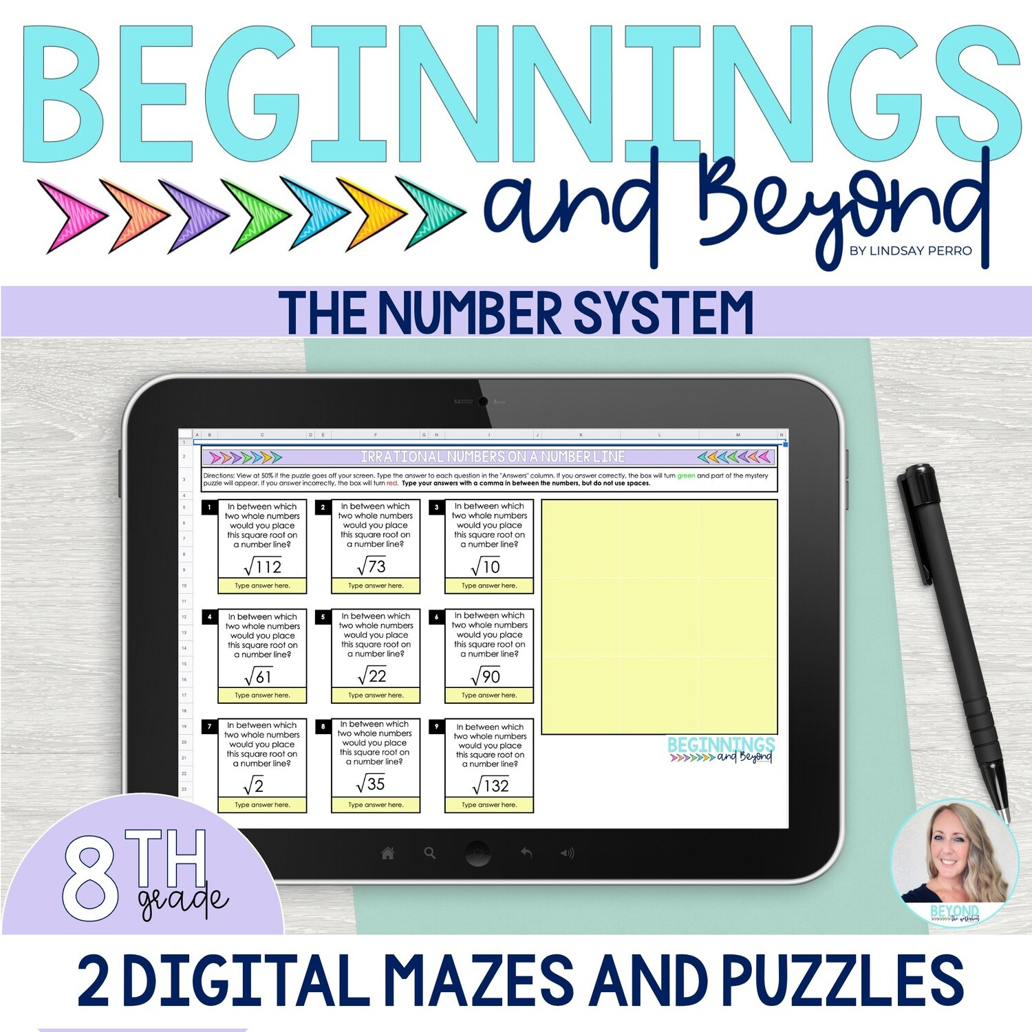 8th Grade Number System Digital Maze and Puzzle