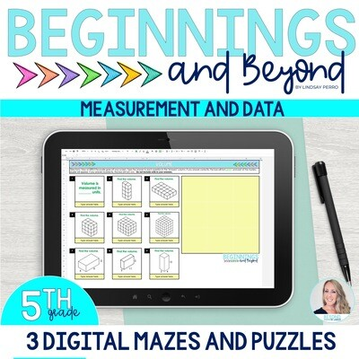5th Grade Measurement and Data Digital Maze and Puzzle Bundle
