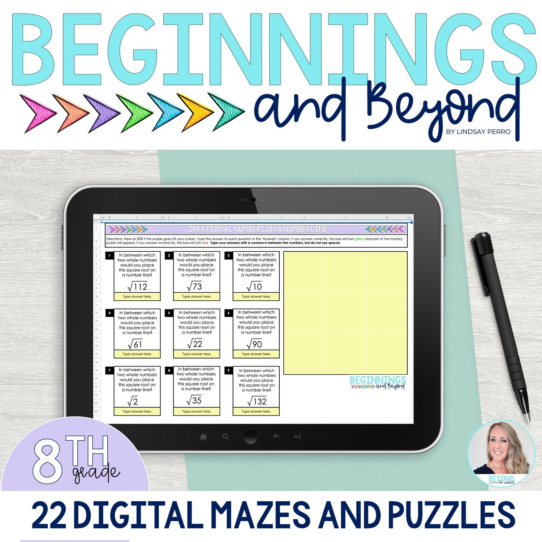 8th Grade Digital Maze and Puzzle Bundle