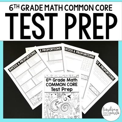 6th Grade Math Common Core Test Prep