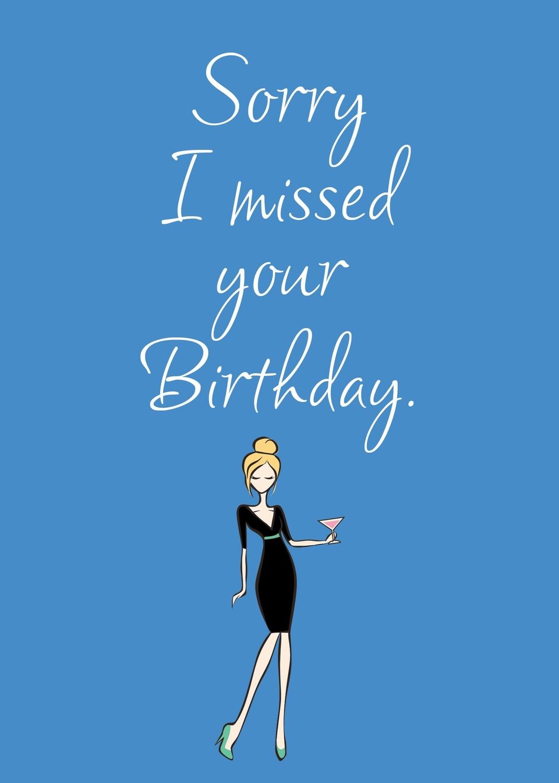SA7070  Belated Birthday Card