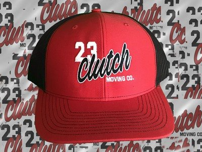 Clutch Hat red and black