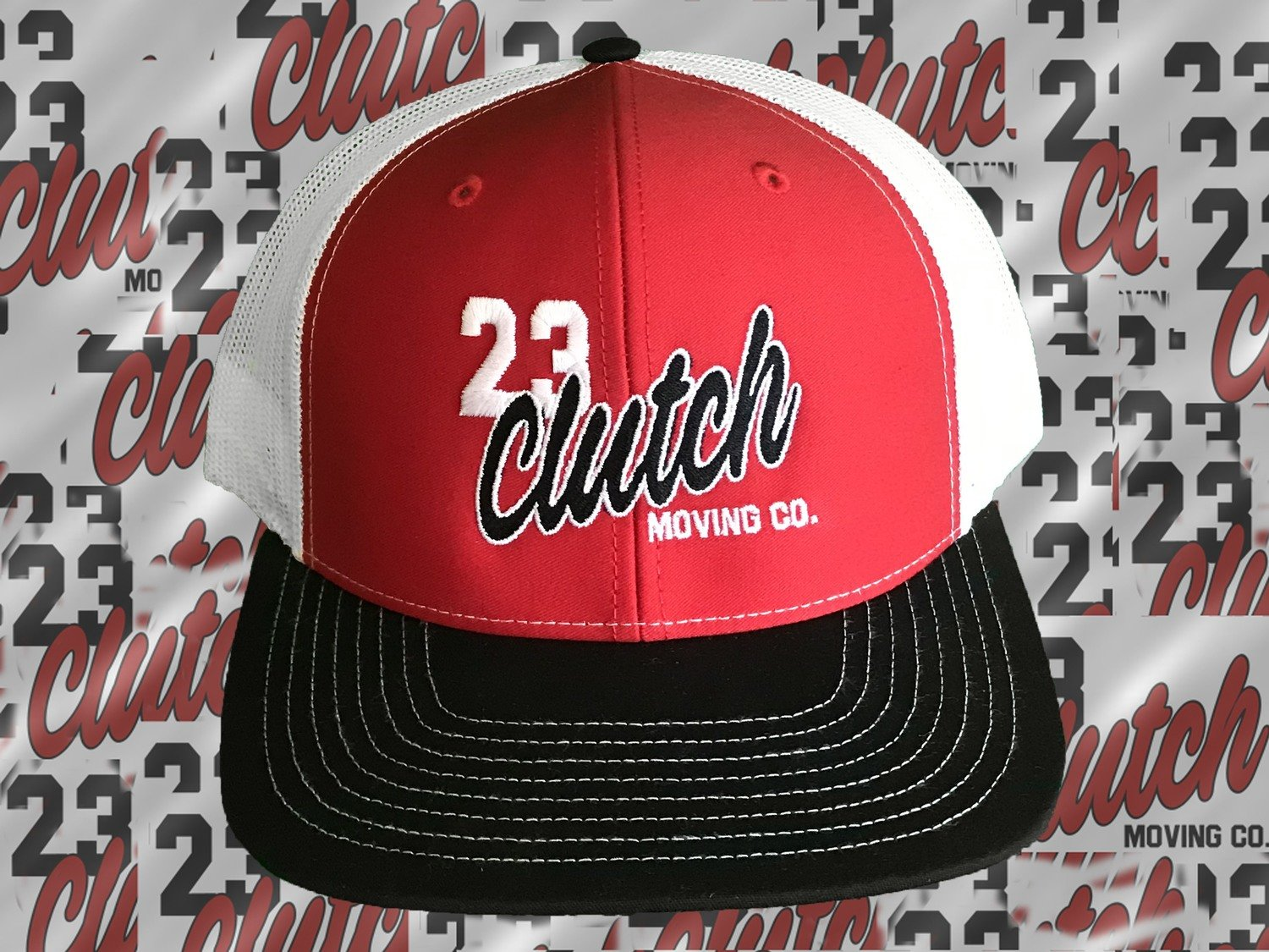 Clutch Hat red and white