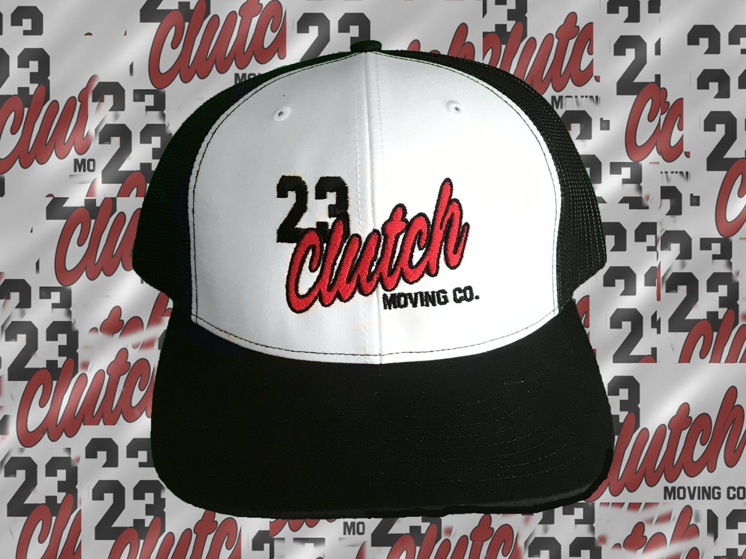 Clutch Hat White and Black