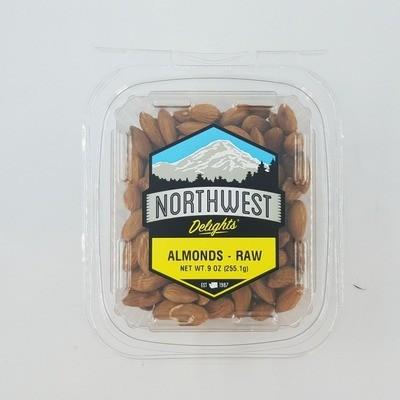 Almonds, Raw, 6/9 oz Case