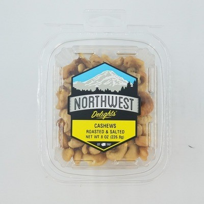 Cashews Roasted & Salted, 6/8 oz Case