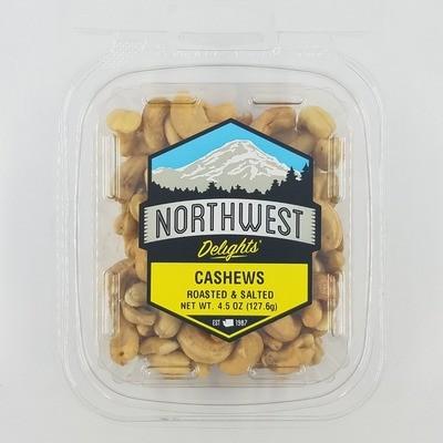 Cashews Roasted & Salted, 12/4.5 oz Case