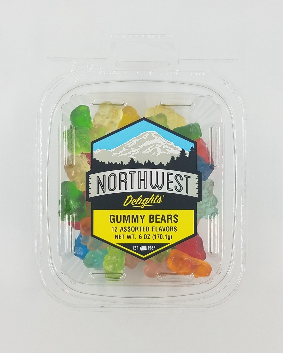 Gummy Bears, 12 Assorted Flavors, 6/12 oz Case