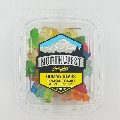 Gummy Bears, 12 Assorted Flavors, 12/6 oz Case