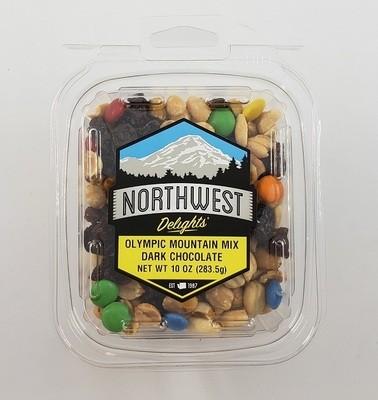Olympic Mountain Mix, Dark Chocolate, 10 oz Tub
