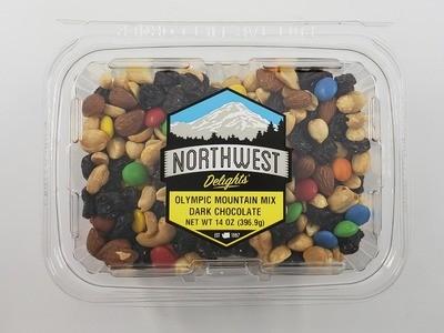 Olympic Mountain Mix, Dark Chocolate, 14 oz Tub