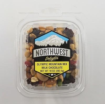 Olympic Mountain Mix, Milk Chocolate, 10 oz Tub