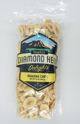 Banana Chips, 12/15 oz Case