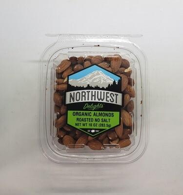 Organic Almonds Roasted No Salt 6/10 oz Case