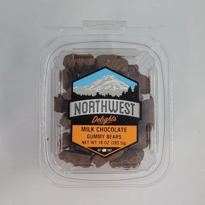 Milk Chocolate Gummy Bears 6/10 oz Case