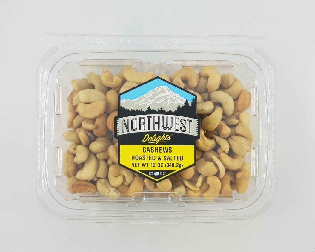 Cashews Roasted & Salted, 6/12 oz Case