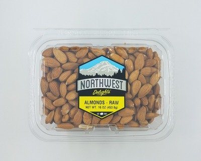 Almonds, Raw, 6/16 oz Case