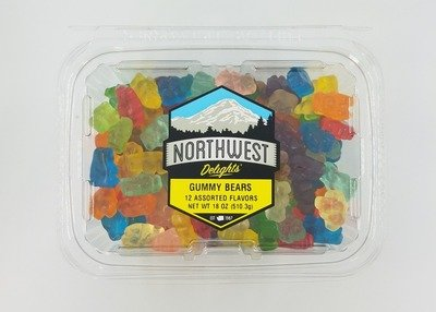 Gummy Bears, 12 Assorted Flavors, 6/18 oz Case