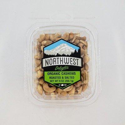 Organic Cashews, Roasted & Salted, 6/9 oz Case
