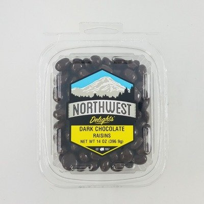 Dark Chocolate Raisins, 6/14 oz Case