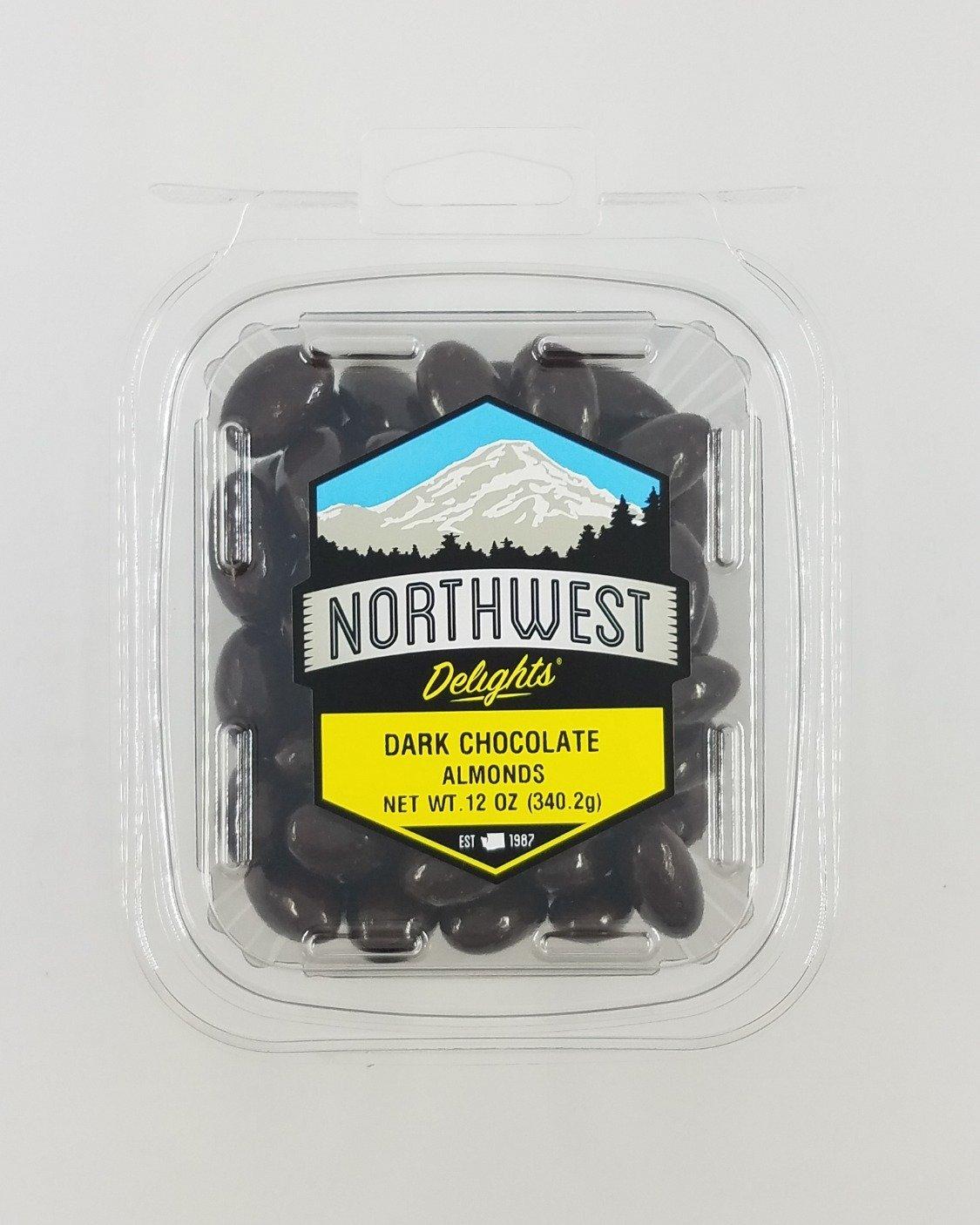 Dark Chocolate Almonds, 6/12 oz Case